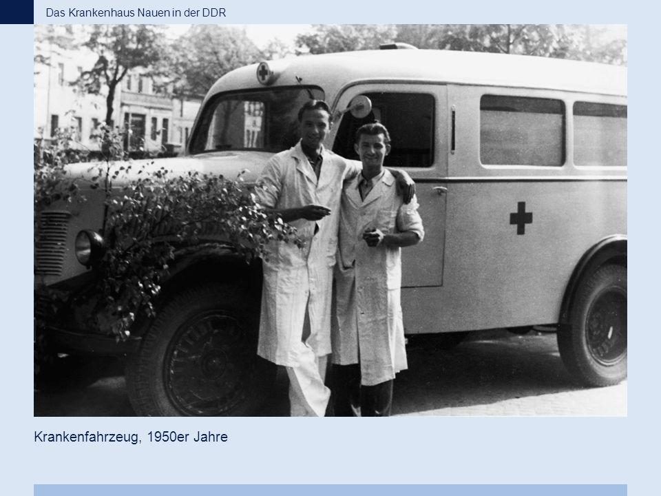 Krankenfahrzeug, 1950er Jahre