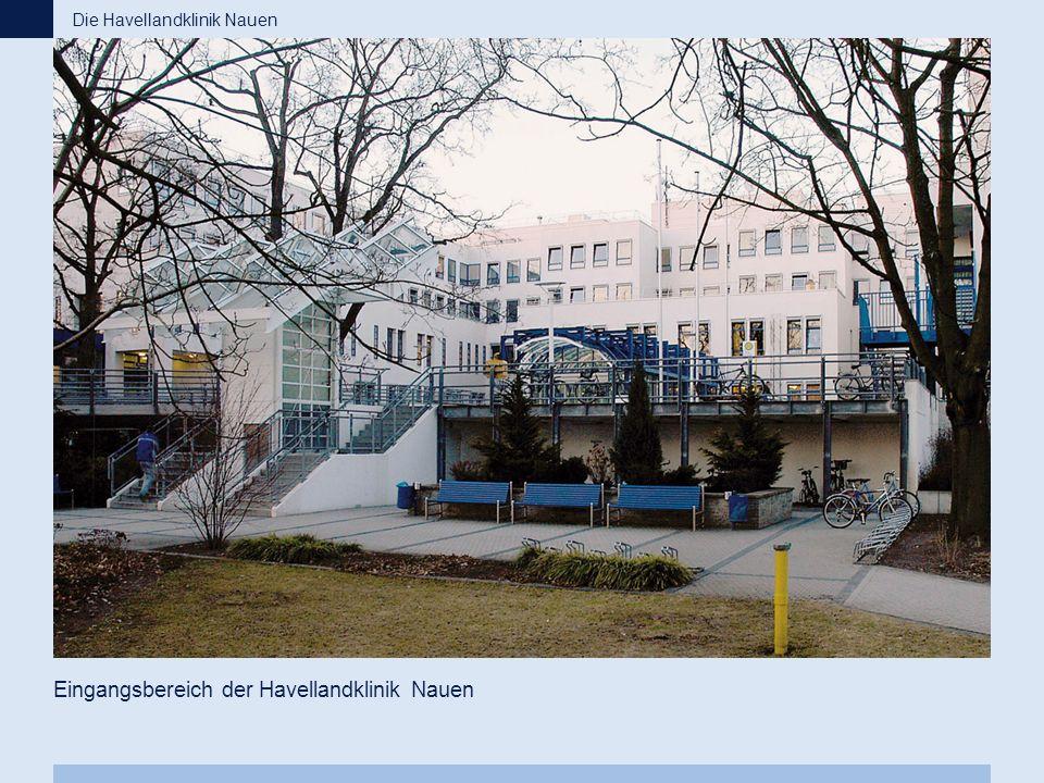 Eingangsbereich der Havellandklinik Nauen