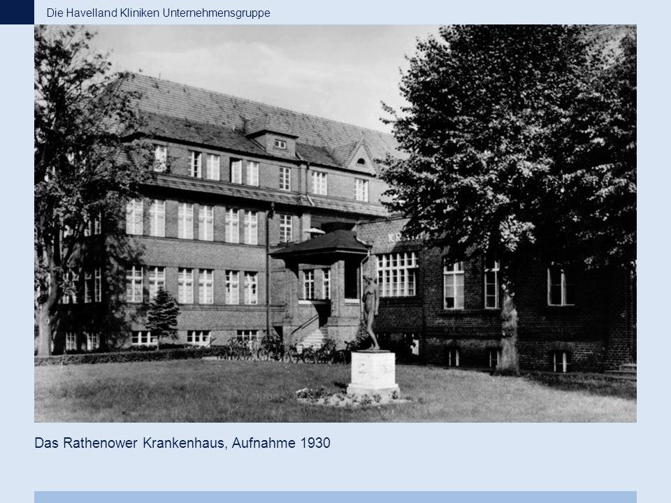 Das Rathenower Krankenhaus, Aufnahme 1930