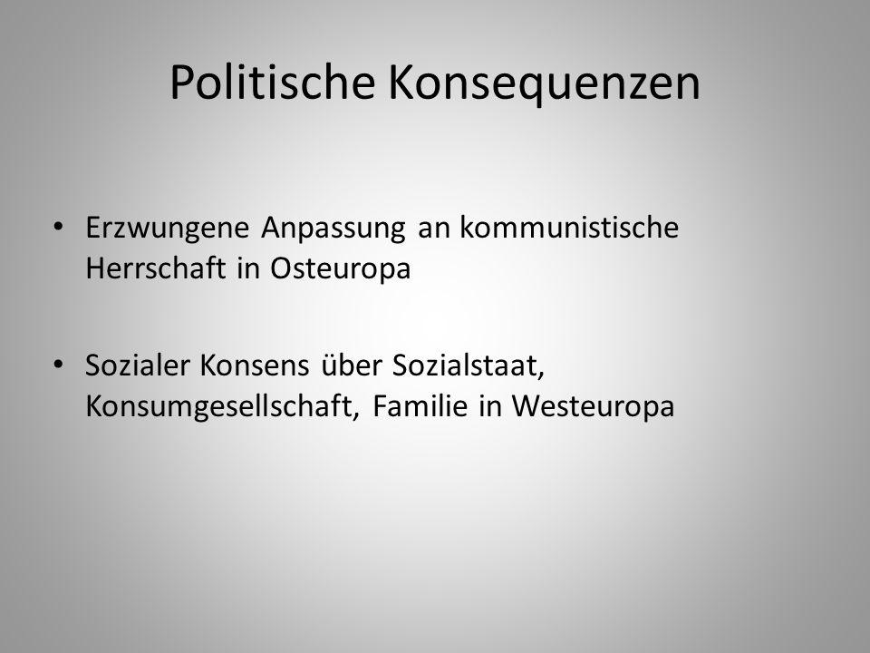 Politische Konsequenzen