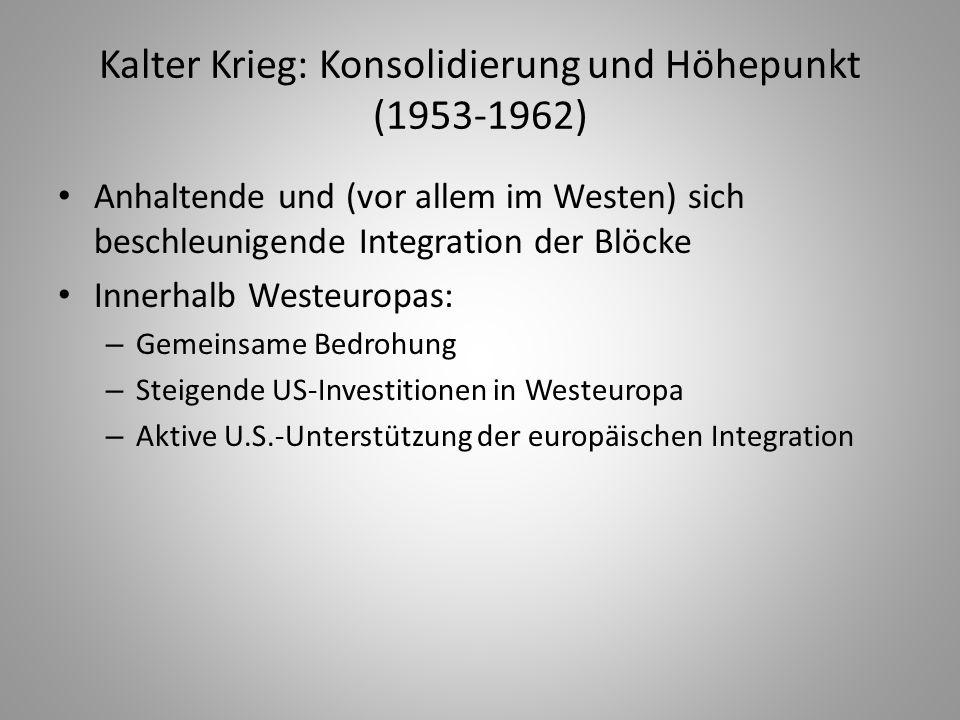 Kalter Krieg: Konsolidierung und Höhepunkt (1953-1962)