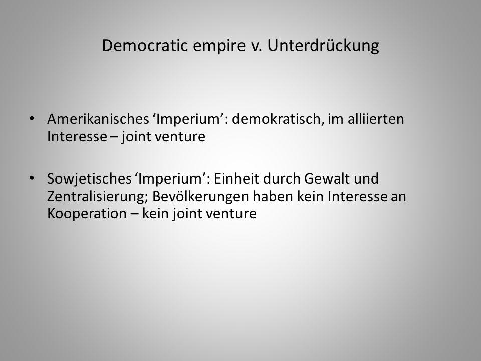 Democratic empire v. Unterdrückung