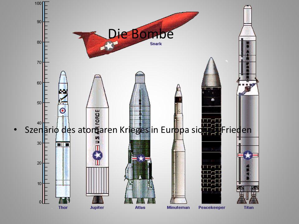 Die Bombe Szenario des atomaren Krieges in Europa sichert Frieden