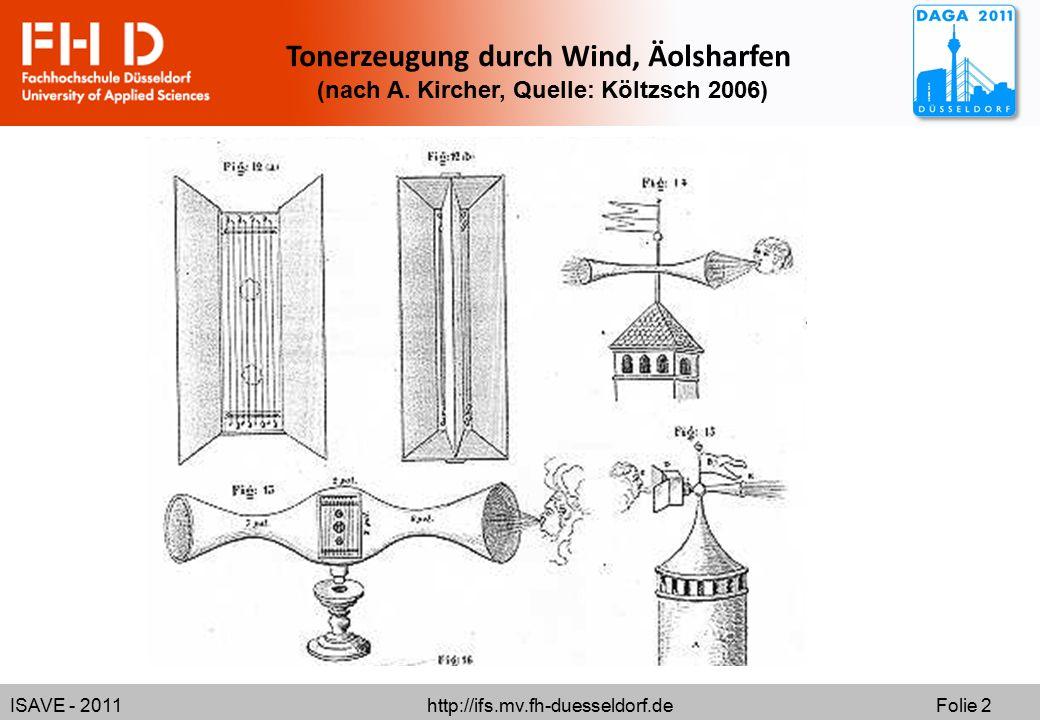 Tonerzeugung durch Wind, Äolsharfen