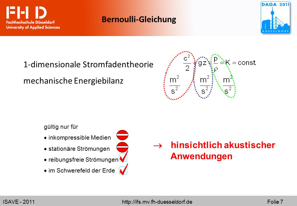 1-dimensionale Stromfadentheorie