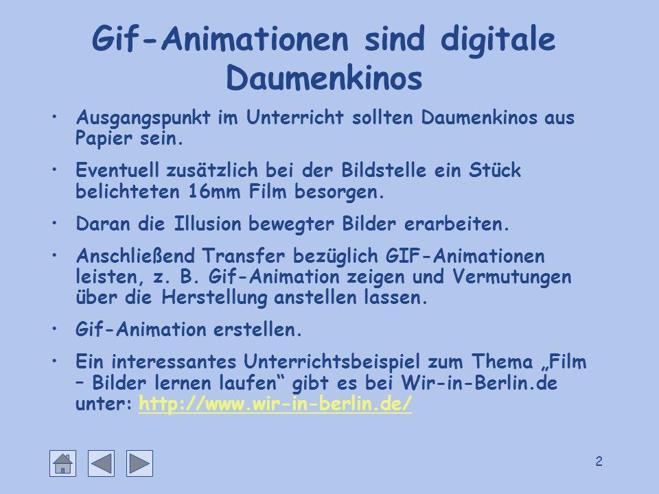 Gif-Animationen sind digitale Daumenkinos