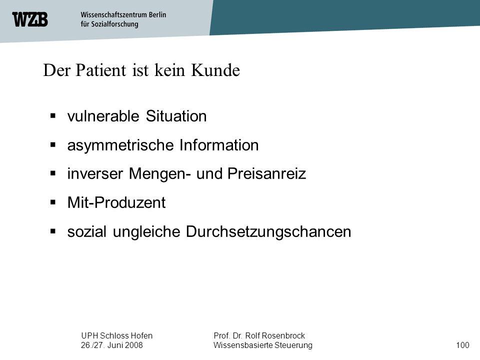Der Patient ist kein Kunde