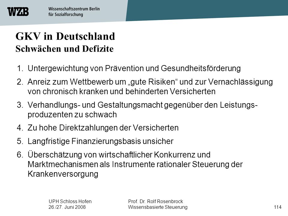 GKV in Deutschland Schwächen und Defizite