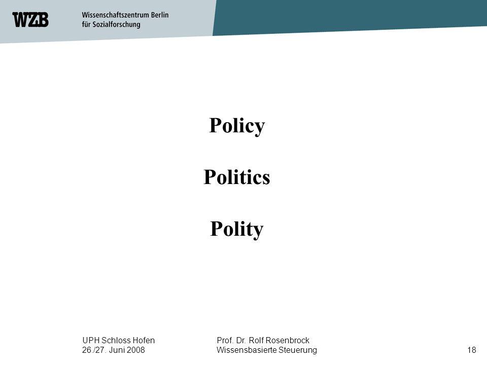 Policy Politics Polity