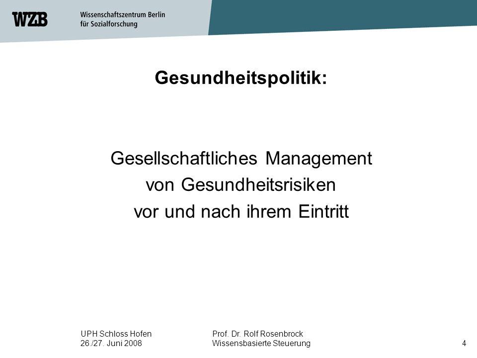 Gesellschaftliches Management von Gesundheitsrisiken