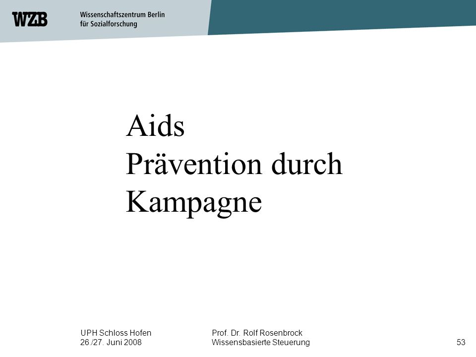 Aids Prävention durch Kampagne