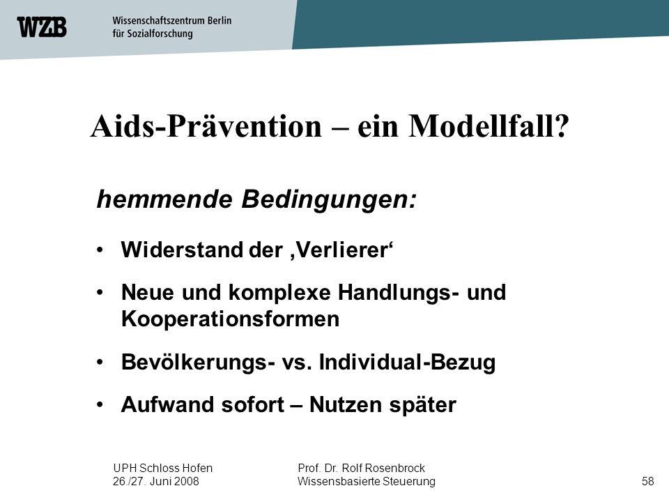 Aids-Prävention – ein Modellfall