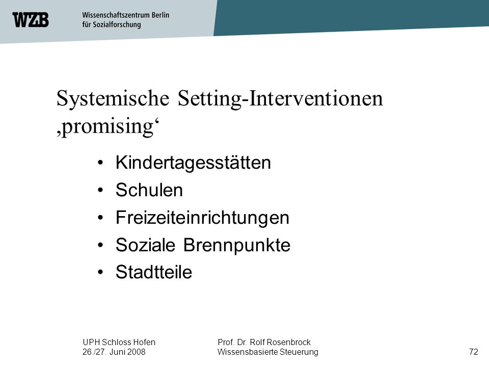 Systemische Setting-Interventionen ,promising'