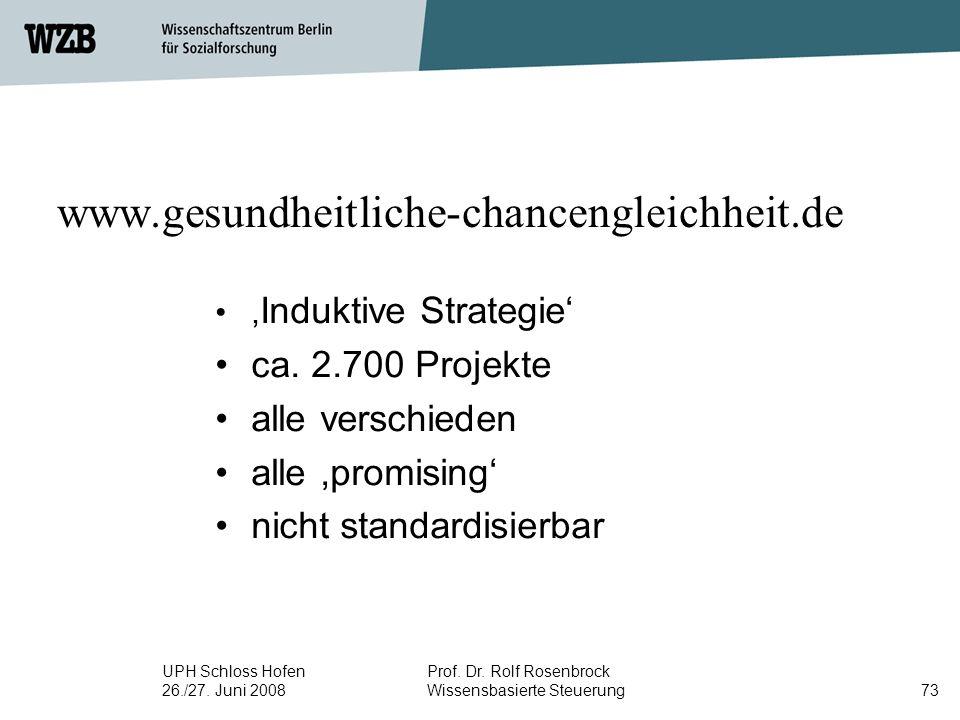 www.gesundheitliche-chancengleichheit.de ca. 2.700 Projekte