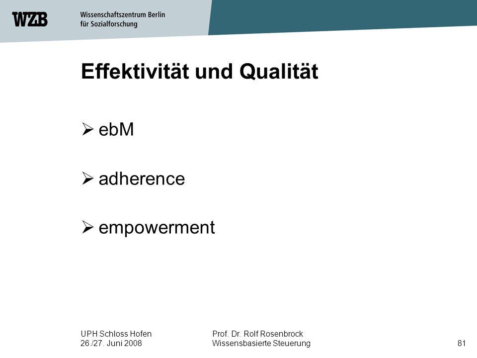 Effektivität und Qualität