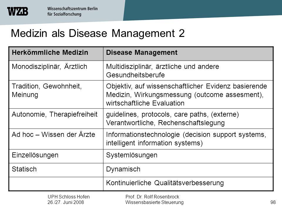 Medizin als Disease Management 2