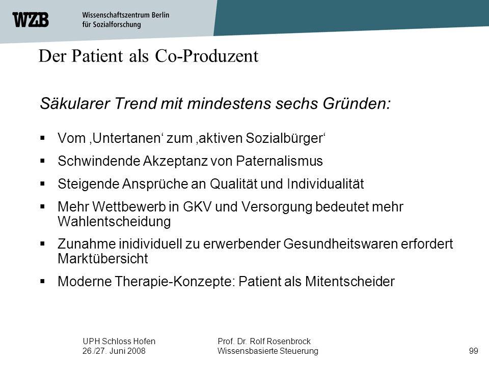 Der Patient als Co-Produzent