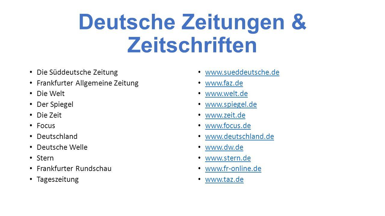 Deutsche Zeitungen & Zeitschriften