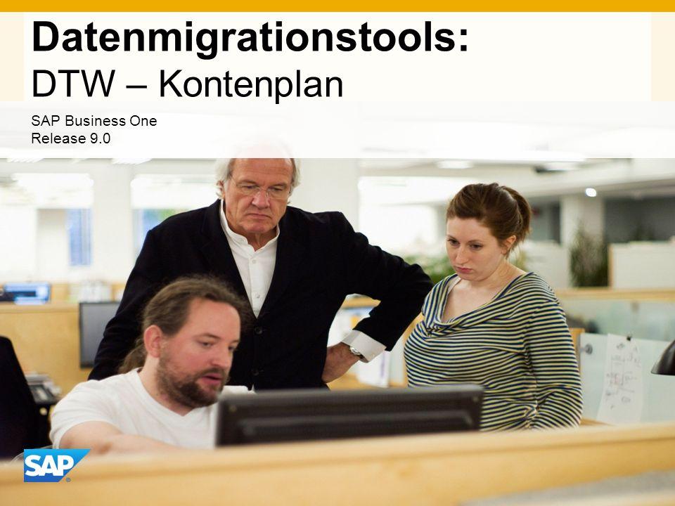 Datenmigrationstools: DTW – Kontenplan