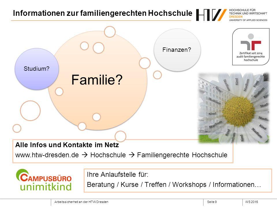 Informationen zur familiengerechten Hochschule