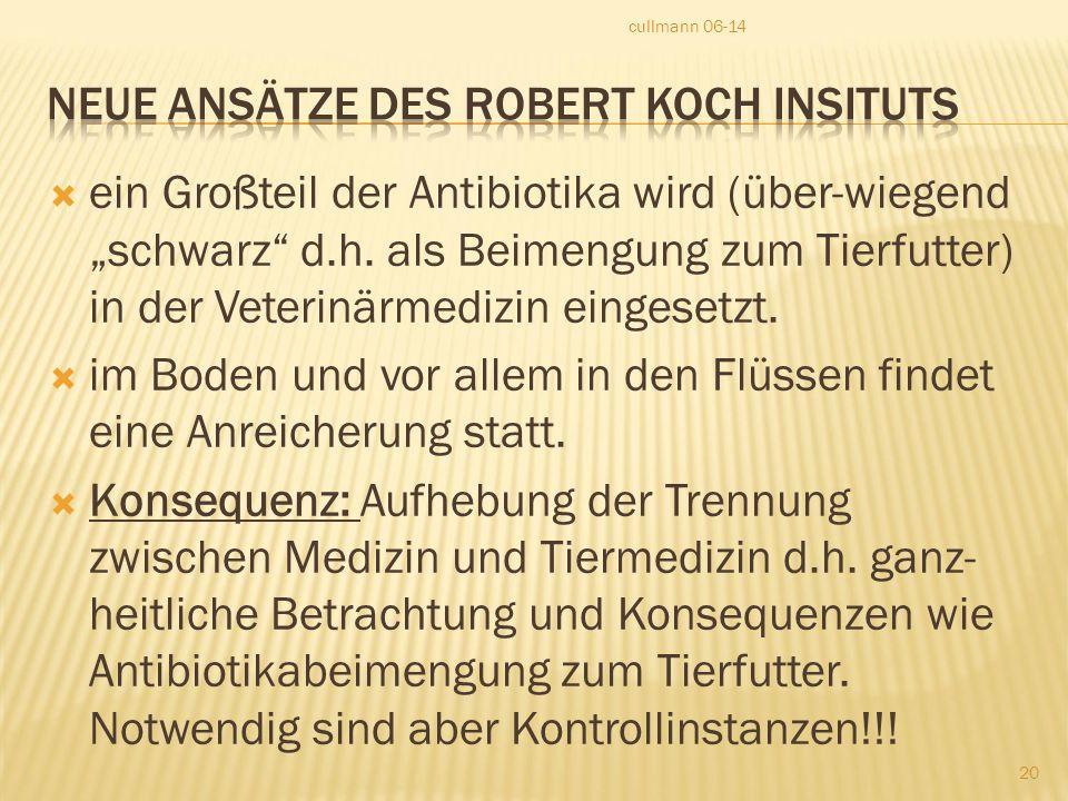 Neue Ansätze des Robert Koch Insituts