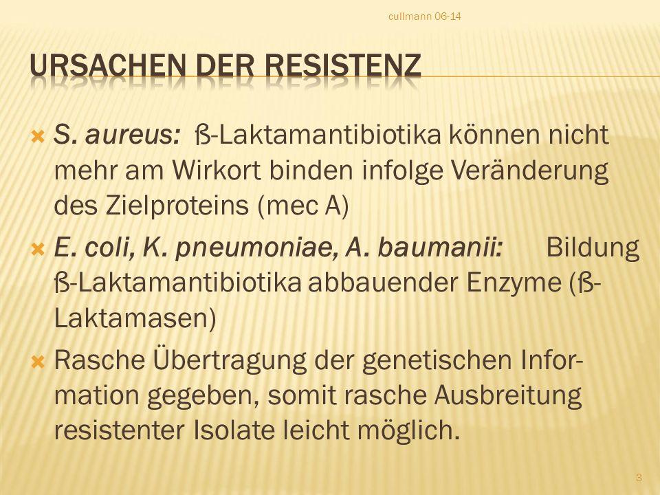 Ursachen der Resistenz
