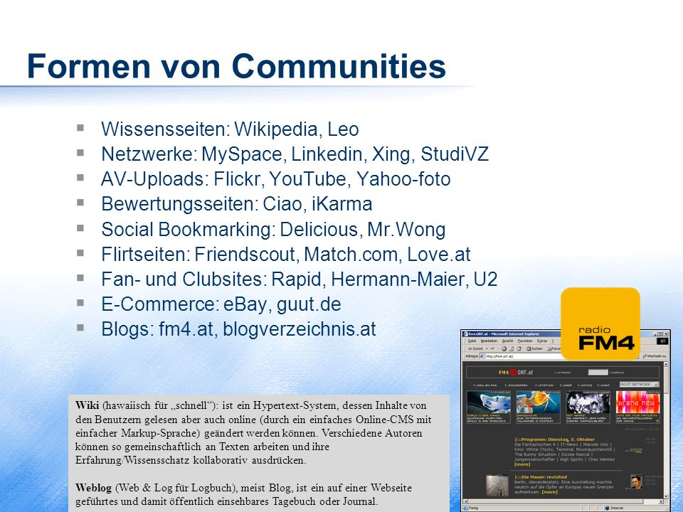 Formen von Communities