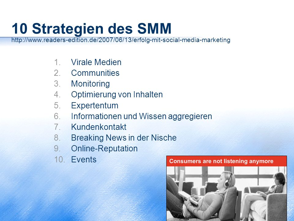 10 Strategien des SMM http://www. readers-edition