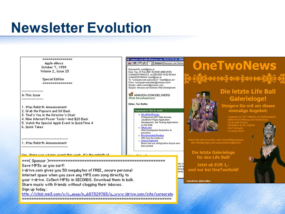Newsletter Evolution