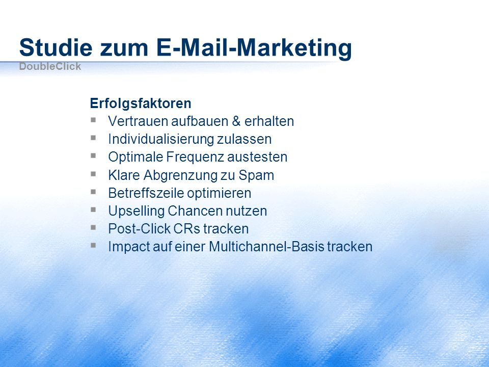 Studie zum E-Mail-Marketing DoubleClick