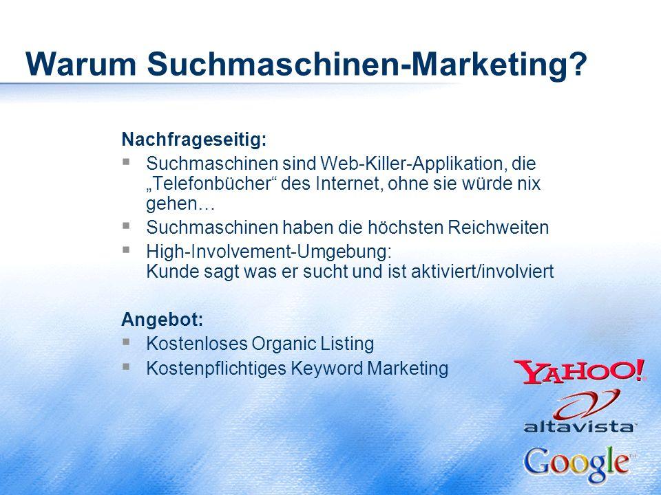 Warum Suchmaschinen-Marketing