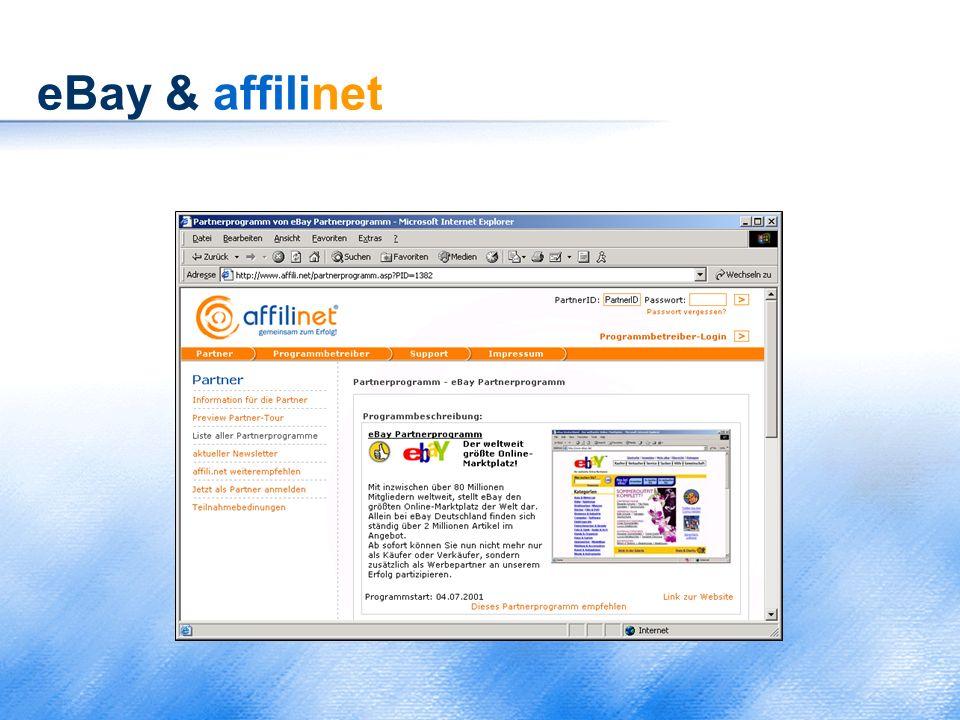 eBay & affilinet