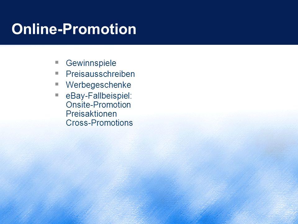 Online-Promotion Gewinnspiele Preisausschreiben Werbegeschenke