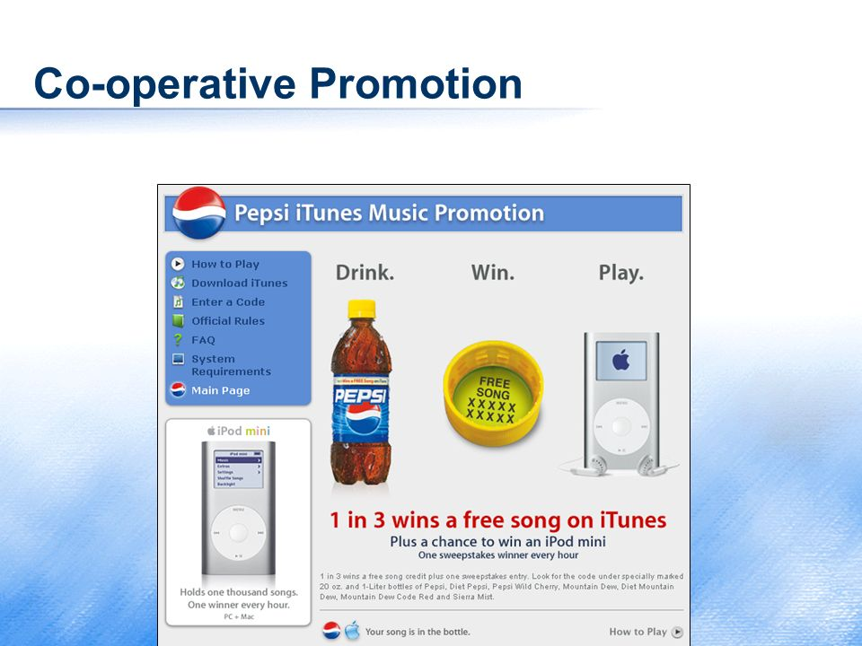 Co-operative Promotion
