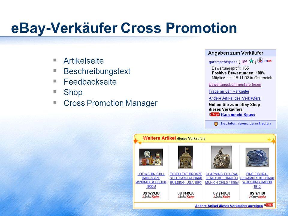 eBay-Verkäufer Cross Promotion