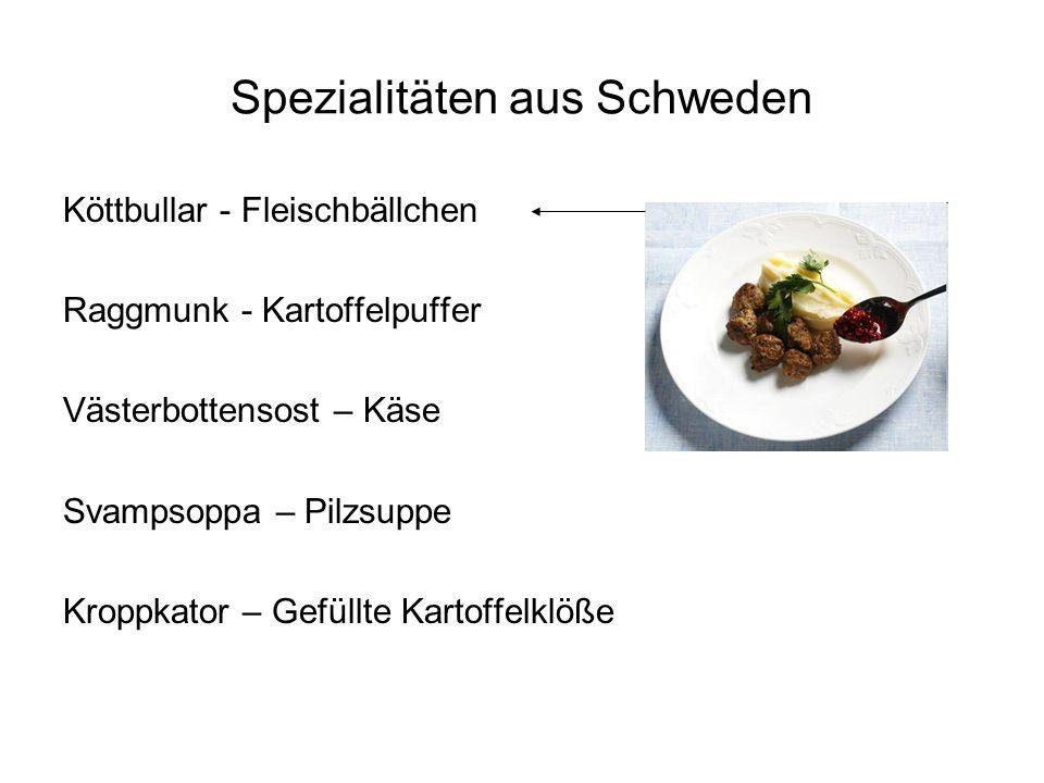 Spezialitäten aus Schweden