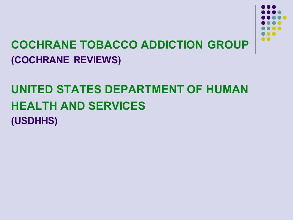 COCHRANE TOBACCO ADDICTION GROUP