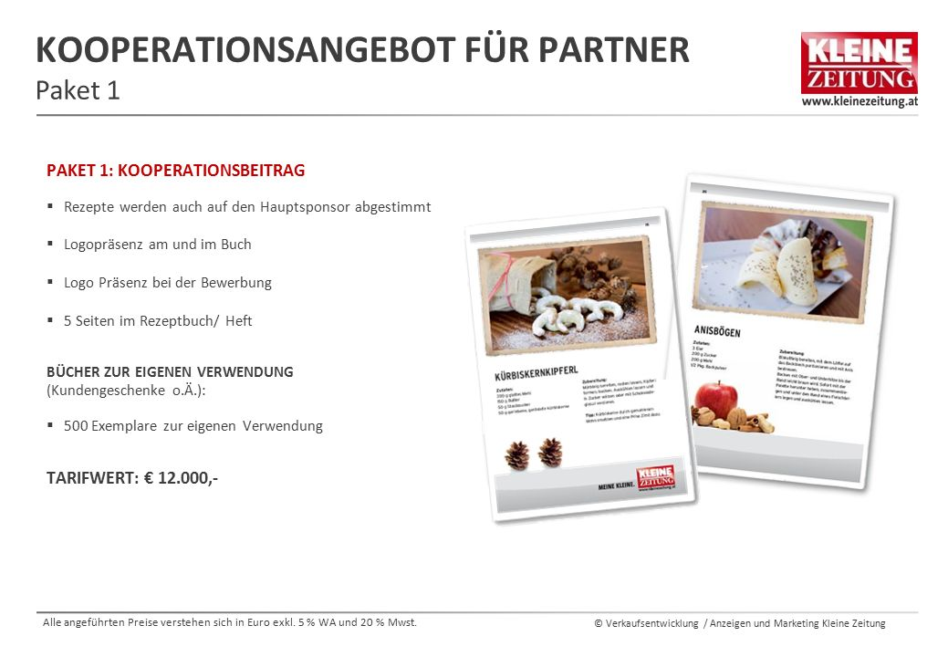 Kooperationsangebot für Partner Paket 1