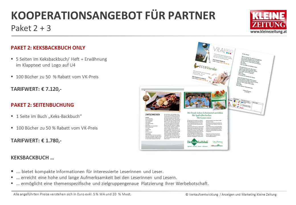 Kooperationsangebot für Partner Paket 2 + 3