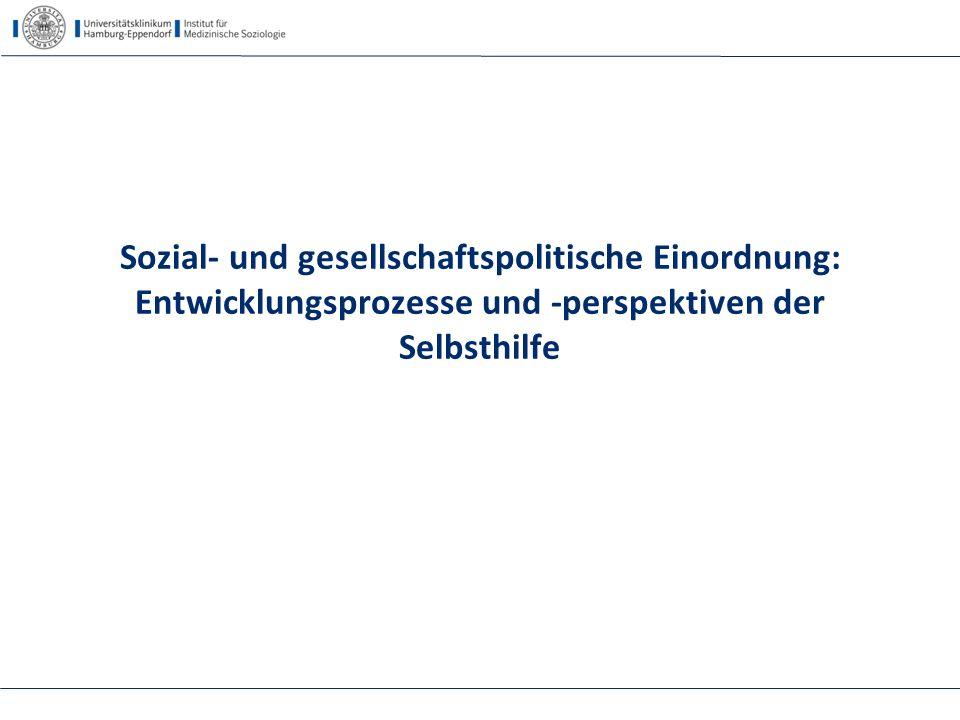 Sozial- und gesellschaftspolitische Einordnung: Entwicklungsprozesse und -perspektiven der Selbsthilfe