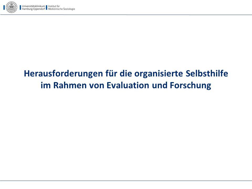 Herausforderungen für die organisierte Selbsthilfe im Rahmen von Evaluation und Forschung
