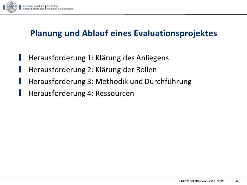 Planung und Ablauf eines Evaluationsprojektes