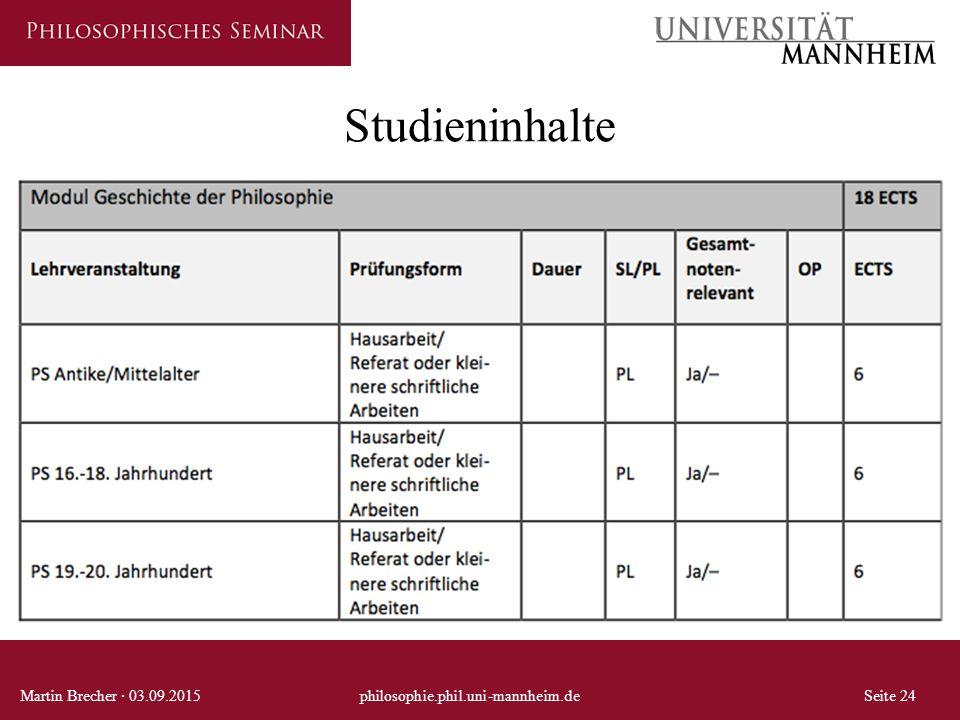 Studieninhalte Martin Brecher · 03.09.2015 philosophie.phil.uni-mannheim.de Seite 24