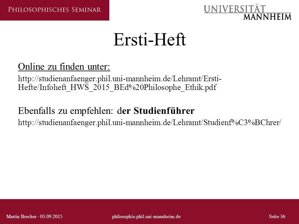 Ersti-Heft Online zu finden unter: