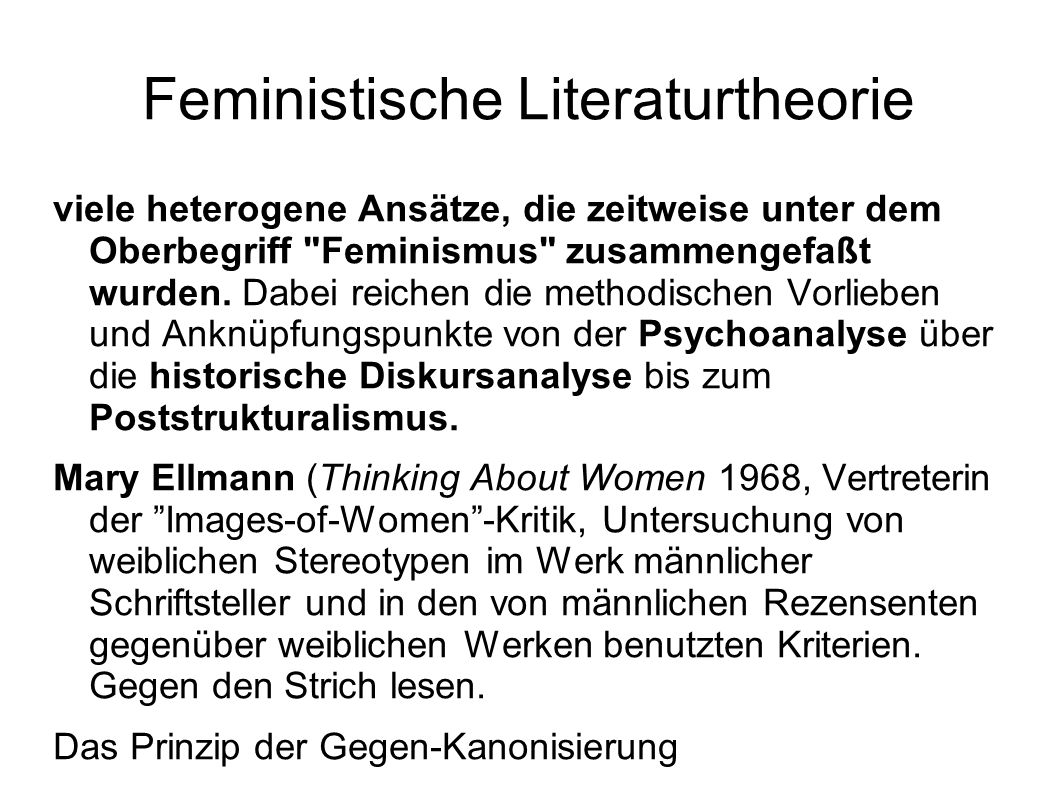 Feministische Literaturtheorie