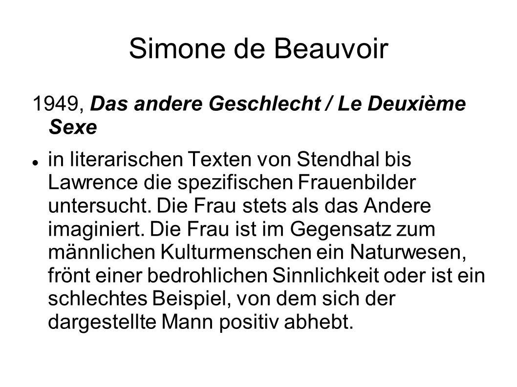 Simone de Beauvoir 1949, Das andere Geschlecht / Le Deuxième Sexe