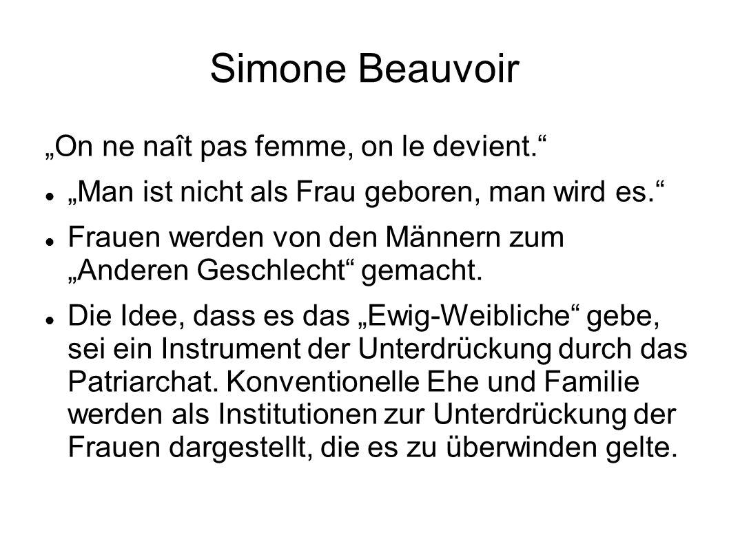"""Simone Beauvoir """"On ne naît pas femme, on le devient."""