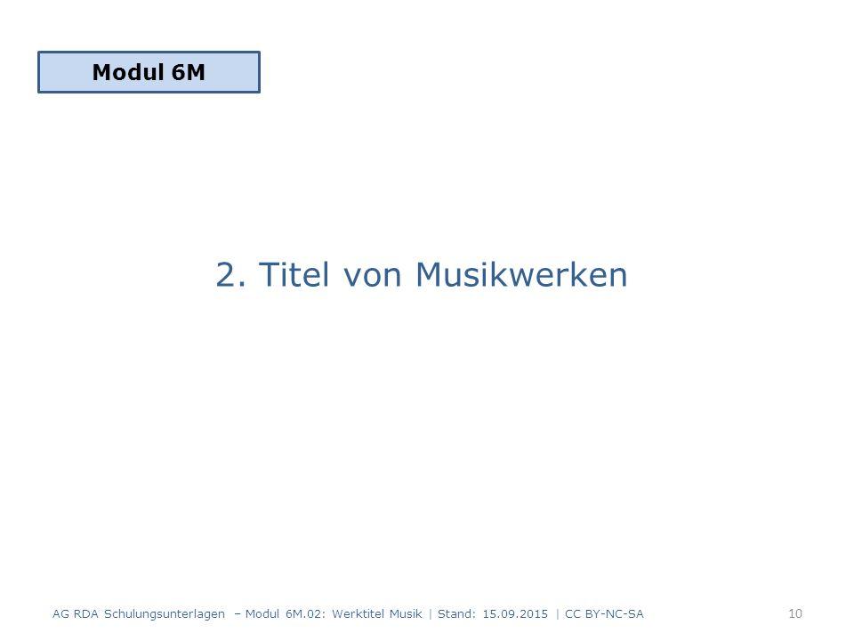 2. Titel von Musikwerken Modul 6M