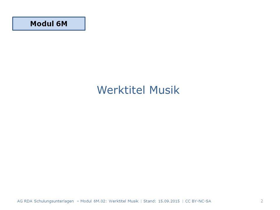 Werktitel Musik Modul 6M