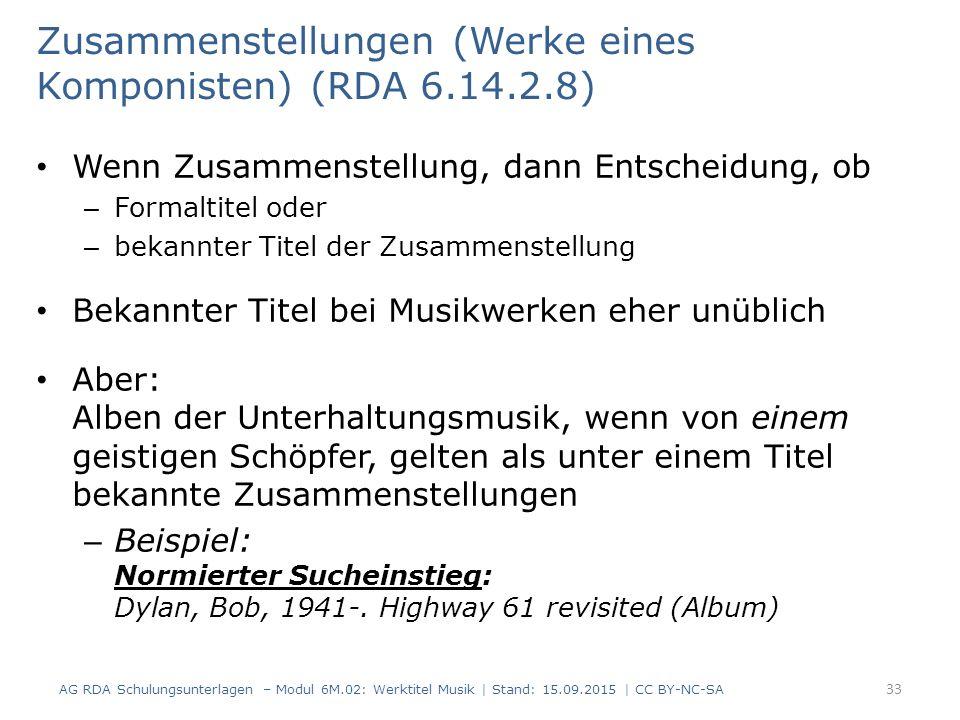 Zusammenstellungen (Werke eines Komponisten) (RDA 6.14.2.8)